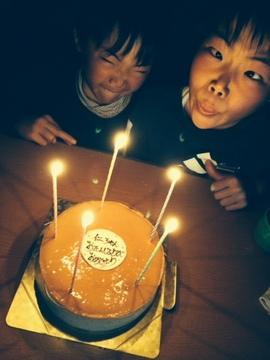 チーズケーキ 誕生日 変顔