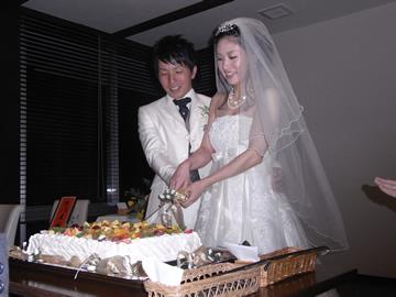 結婚式 ケーキ入刀 ウエディング