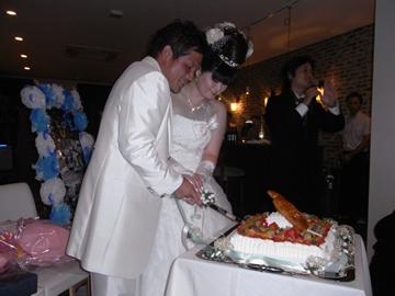 結婚式 ウエディングケーキ ケーキ入刀
