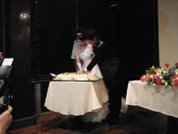 結婚式 ウエディング ケーキ入刀