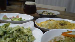 ナギサビール 天ぷら オムレツ